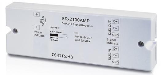 DMX signal amplifier